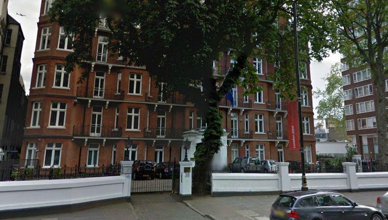 De Nederlandse ambassade in Londen Beeld Google Streetview
