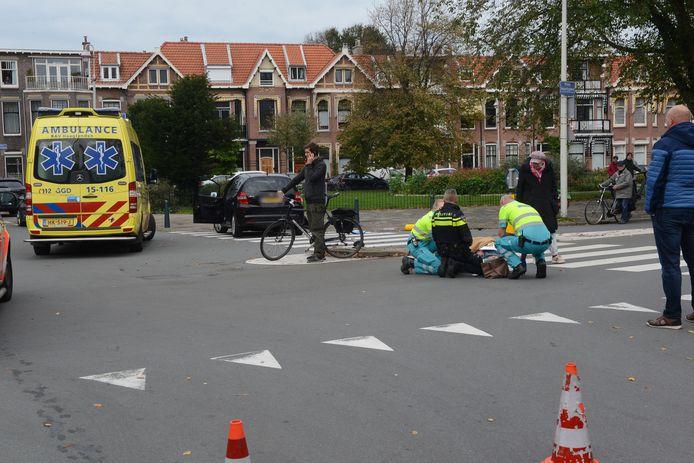 Ongeluk op de Frederik Hendriklaan.