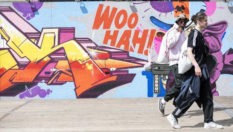 Bezoekers van het Tilburgse festival Woo Hah! Beeld anp