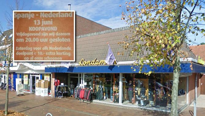Mannenmode Londeman, aan de Noorderstraat in Sappemeer.