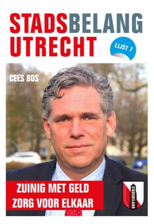 """Lijsttrekker Cees Bos van Stadsbelang Utrecht: """"Het is verschrikkelijk nieuws en het gaat om een ernstige verdenking. Maar het is ook een verdenking en hij is nog niet veroordeeld."""""""