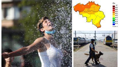 HITTEBLOG. Maxima tot 36 graden en kans op lokaal onweer - Opnieuw hoge ozonconcentraties - Zwemvijver De Plas Houthalen gesloten na opstootjes