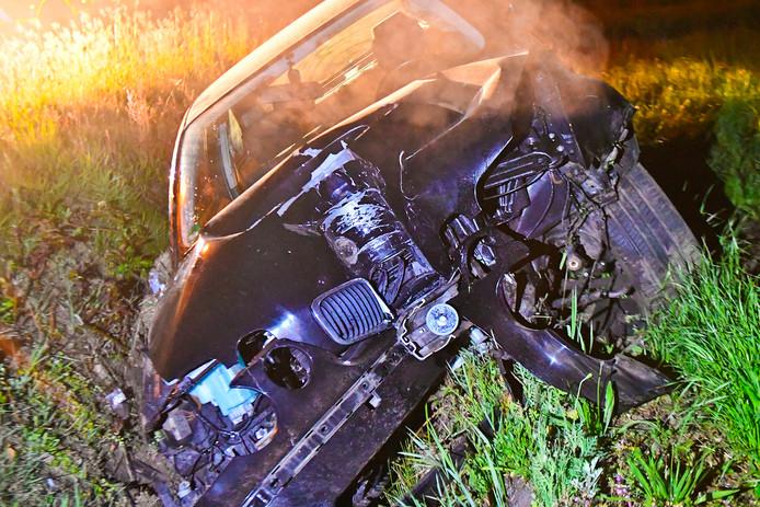 De auto werd total loss verklaard.