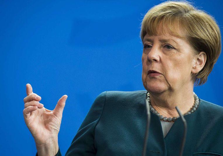 Bondskanselier Angela Merkel. Beeld afp