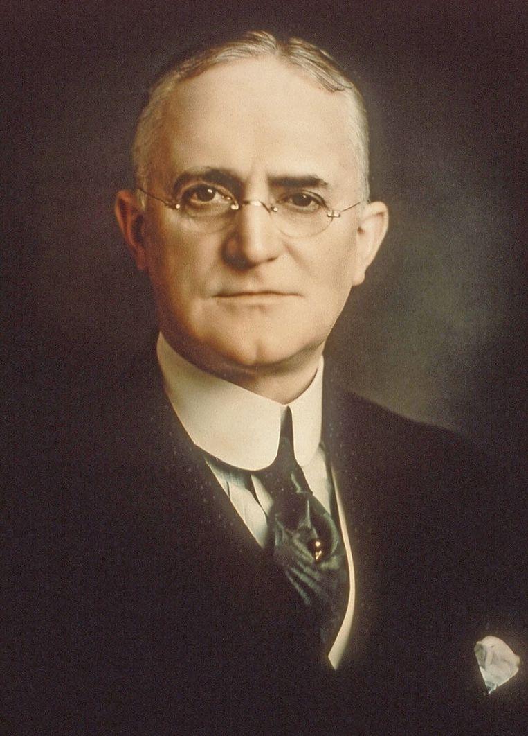George Eastman, die Kodak in 1881 begon, op een ongedateerde publiciteitsfoto. © REUTERS Beeld