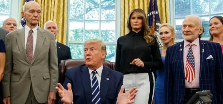 Donald Trump a reçu Buzz Aldrin et Michael Collins à la Maison Blanche