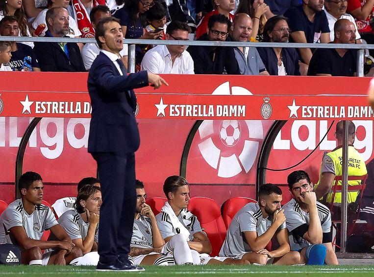 Julen Lopetegui kreeg na de 5-1-oplawaai in Barcelona de bons.