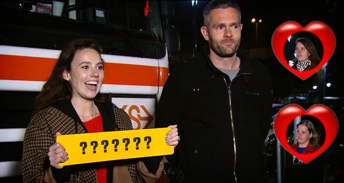 Gwen van Poorten en trucker Rob maken morgen bekend wie op tweede date mag: Jessica (boven) of Karin.