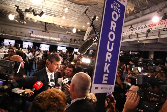 De Democratische presidentskandidaat Beto O'Rourke na het debat van donderdag in Houston.