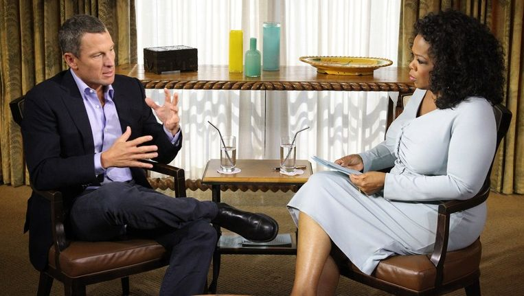 Oprah en Lance. Beeld ANP