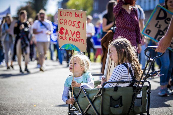 Klimaatdemonstratie in Maastricht.