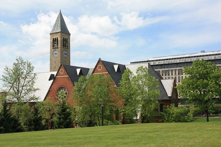 De prestigieuze Cornell-universiteit in Ithaca, in de staat New York.