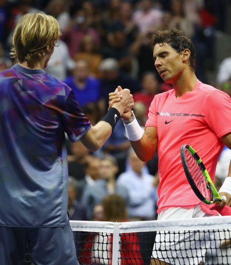 """Andrey Rublev: """"Nadal est le meilleur athlète de l'histoire du sport"""""""