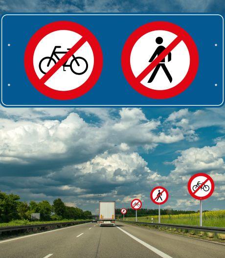 Oost-Europeanen op de A59 ... lópend! Of fietsend. Het gebeurt wekelijks
