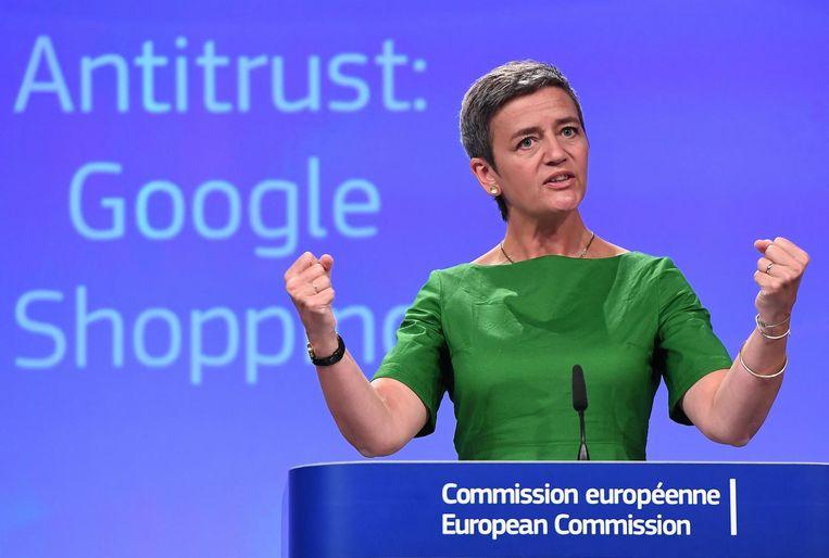 Eurocommissaris Margrethe Vestager. Beeld afp