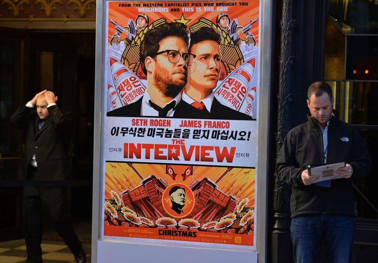 Sony Pictures heeft de première van de film gecanceld. Beeld afp