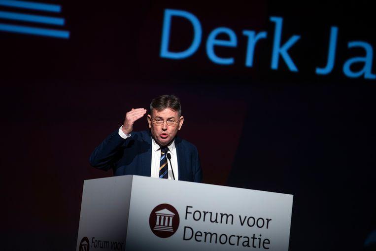 Derk Jan Eppink tijdens het congres van Forum voor Democratie, november 2018. Beeld ANP
