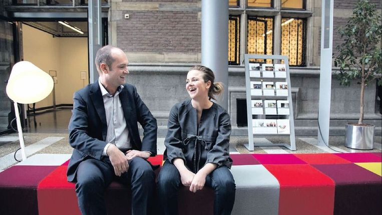 De Tweede Kamerleden Gert-Jan Segers (ChristenUnie) en Myrthe Hilkens (PvdA). Beeld Werry Crone