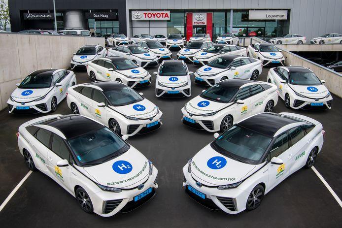 De taxivloot voor het WMO-vervoer in Den Haag.
