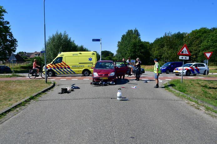 De plaats van het ernstige ongeluk in Angerlo.