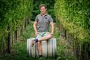 Betuwse wijnboer Diederik Beker: 'Dit wordt weer een héél goed wijnjaar.'