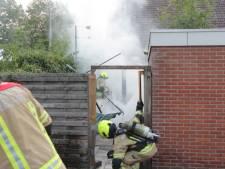 Scooter brandt uit in achtertuin Vlissingen