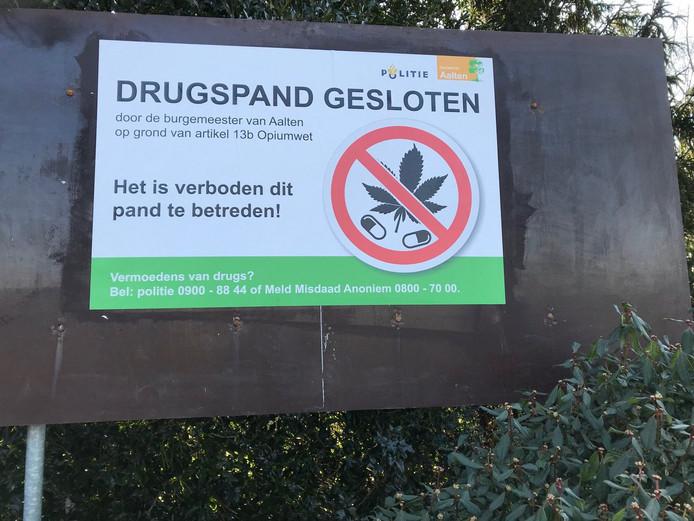 In Aalten en Lintelo zijn in maart twee drugspanden gesloten voor de duur van drie maanden.