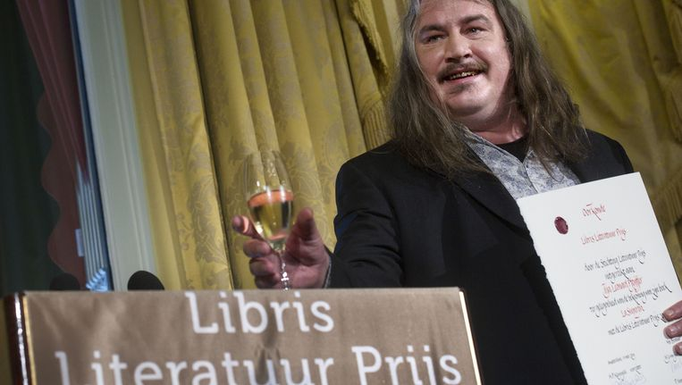 Ilja Leonard Pfeijffer, winnaar van de Libris Literatuur Prijs 2014 Beeld anp