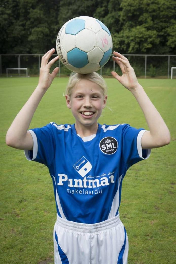 Anna Hightower, voetbalster SML Arnhem D1.