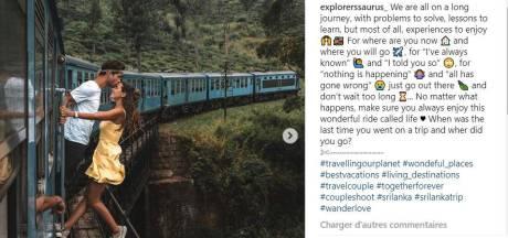 Ce couple d'instagrammeurs prend un cliché hors d'un train en marche, pluie de critiques