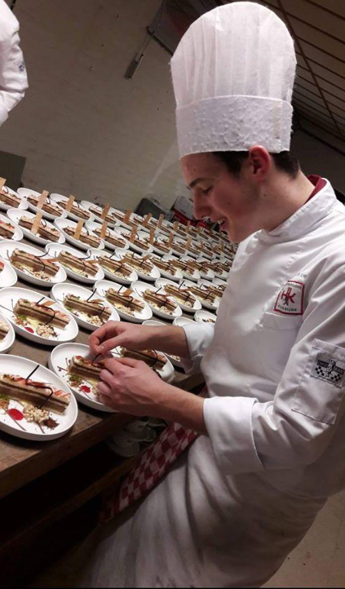 Cédric volgt een specialisatiejaar aan hotelschool Ter Duinen in Koksijde.