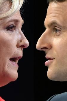 Macron en Le Pen recht tegenover elkaar