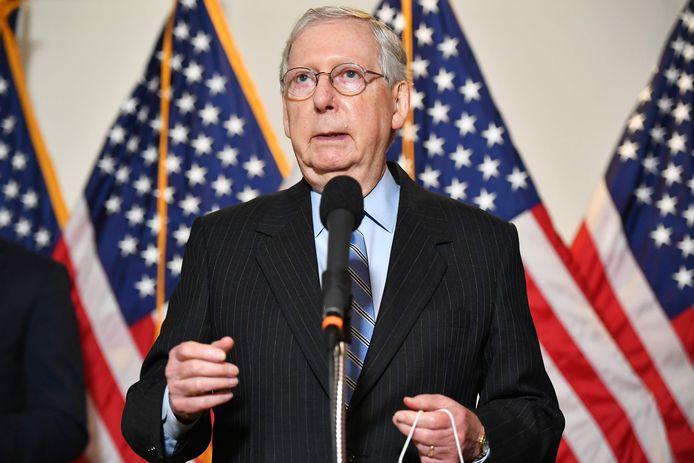 Mitch McConnell, leider van de Republikeinen in de Senaat.