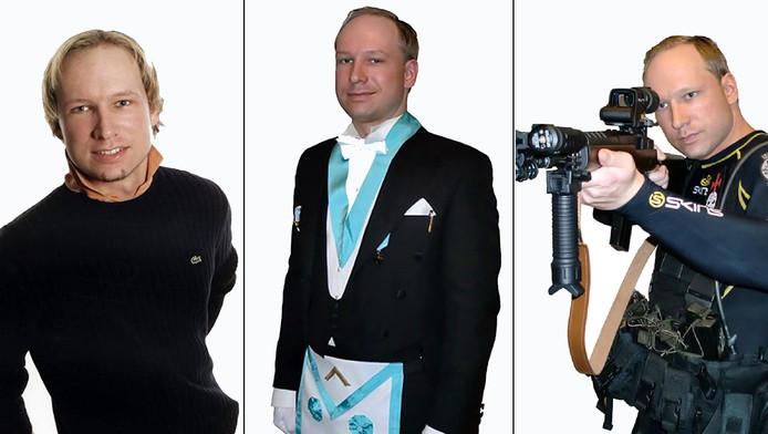 Anders Behring Breivik, zoals hij zichzelf op internet (op Facebook en via YouTube) afbeeldde.