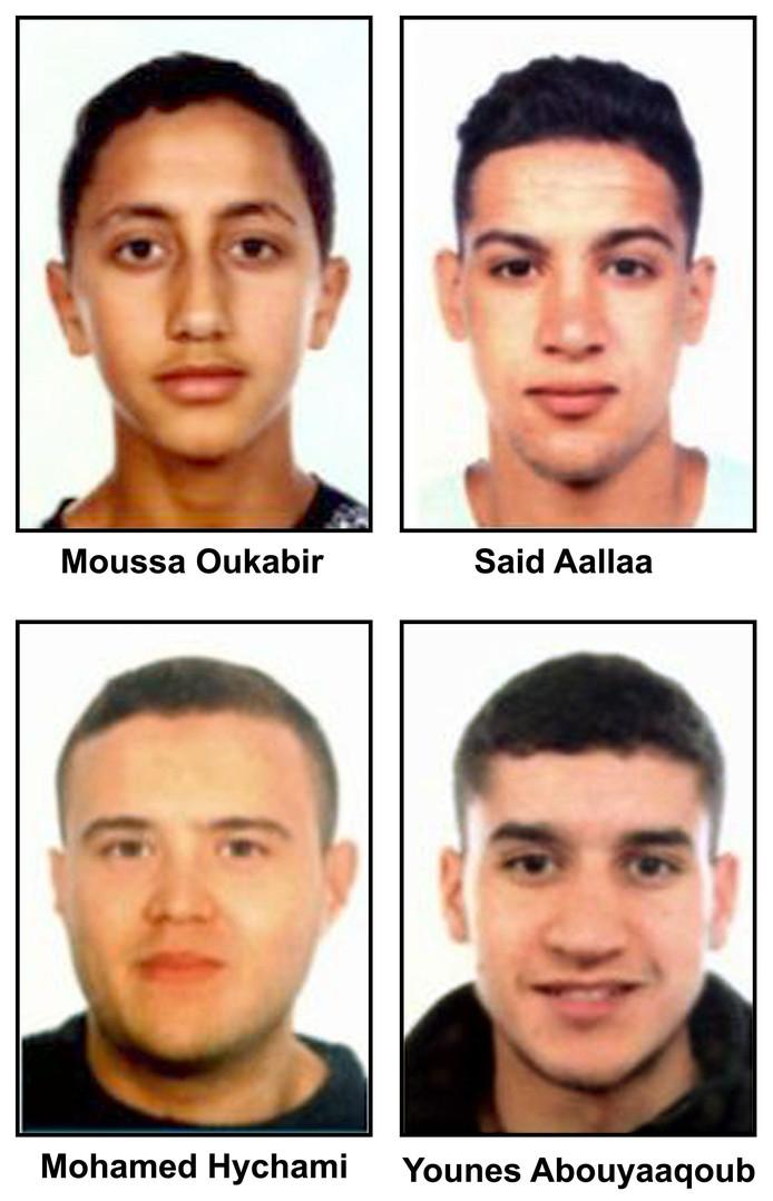 De vier aanslagplegers uit Ripoll.