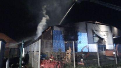Bedrijf in tuinbouwmachines volledig in de as gelegd door zware brand