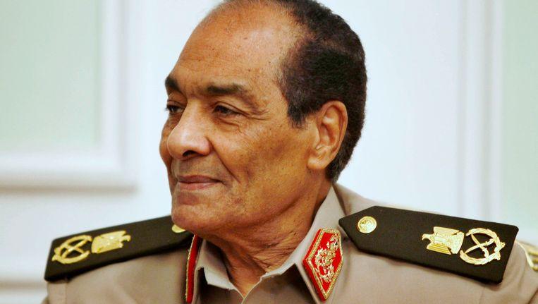 De leider van het militaire bewind in Egypte, veldmaarschalk Mohamed Hussein Tantawi. Beeld REUTERS