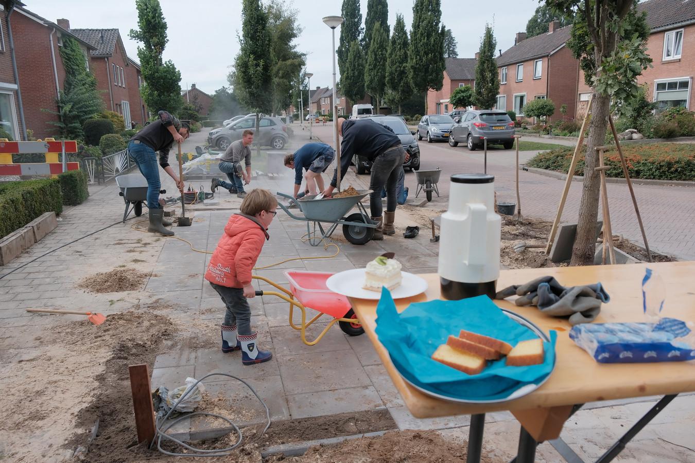 Buren van de Kloesenkamp in actie.