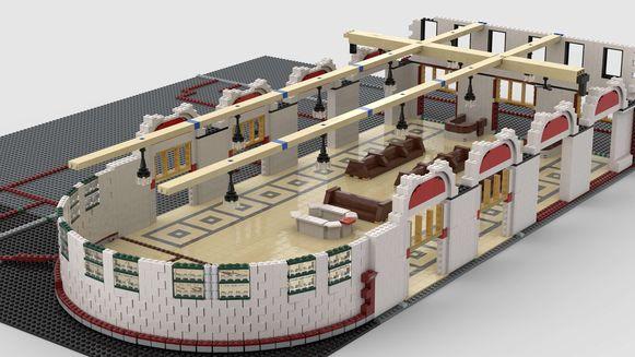 Hans Thienpont bouwt bestaande gebouwen na met Lego. Eerst maakt hij digitale plannen in 3D.