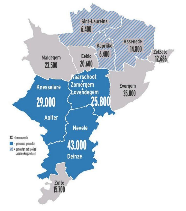 Zulte is wat bevolkingsaantal betreft het kleine broertje in de regio.