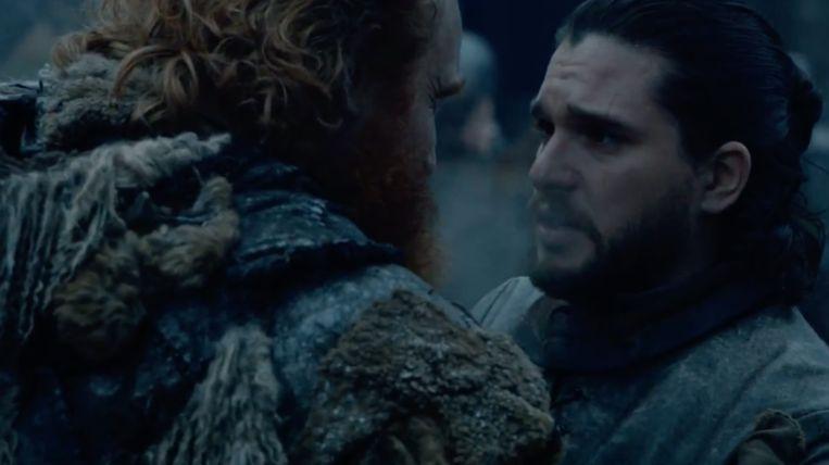 Jon Snow en Tormund zijn herenigd.