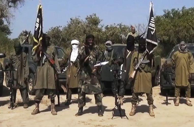 Beeld van de leider van de extremistische islamitische groep Boko Haram, Abubakar Shekau. Beeld afp