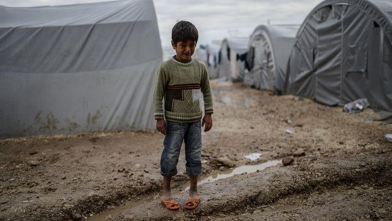 Een Syrische vluchteling in een kamp in Suruc, Turkije. Beeld anp