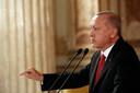 President Erdogan grijpt zijn kans om de Koerden in Syrië een lesje te leren. Presidential Press Service via AP, Pool