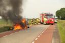 Taxi uitgebrand in Maren-Kessel