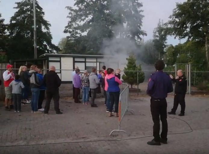 Brandweer oefening in Nieuw Vossemeer.