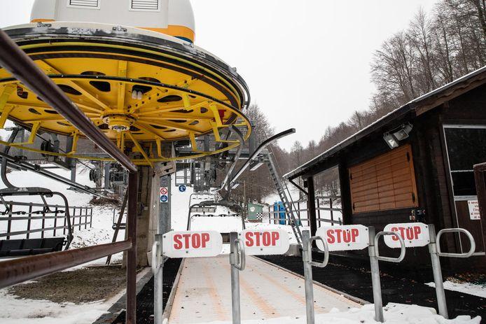 Een gesloten skilift in Monte Livata.