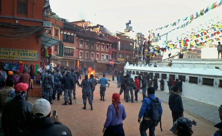 Een Tibetaanse monnik zet zichzelf in brand in Nepal