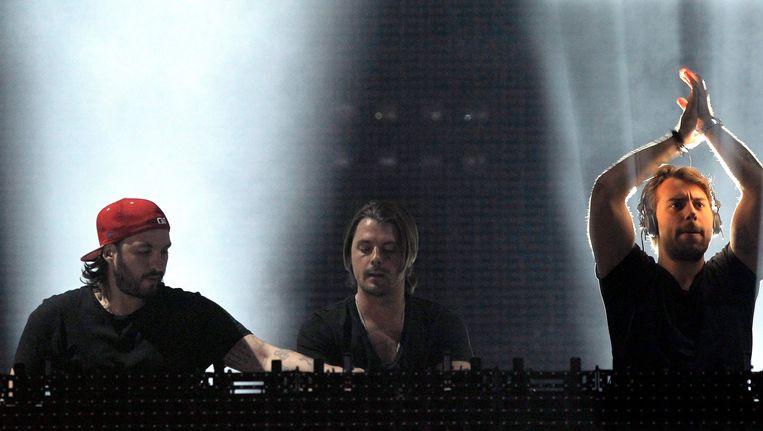 Swedish House Maffia op Rock in Rio in Madrid editie 2012. Vlnr: Sebastian Ingrosso, Axwell en Steve Angello.