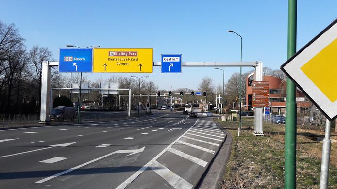 Het kruispunt Horst-Europalaan in Kaatsheuvel.